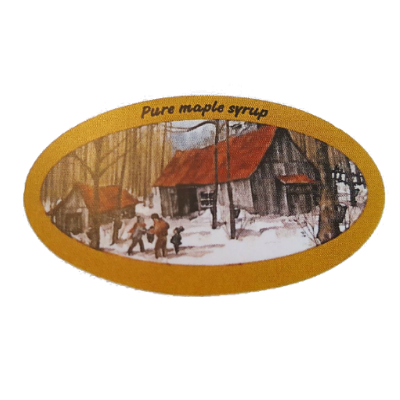 Pure Maple Syrup Labels - Roll of 100